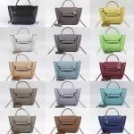 Mine Beauty Genuine Leather Micro Epsom Size 20 cm free ถุงผ้า มี 14 สีให้เลือกค่ะ