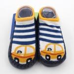 ถุงเท้ารองเท้า มีกันลื่น เด็กเล็กวัย 6-12m/12-18m เนื้อผ้านุ่มนิ่ม ลายรถยนต์