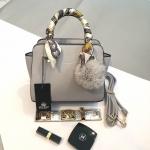 กระเป๋า KEEP saffiano leather Mini office bag สีเทา สวย น่ารัก ขนาดตอบทุกโจทย์การใช้งาน