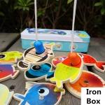 ของเล่นไม้ ชุดตกปลาแม่เหล็ก Magnetic Fishing Box Set