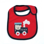 ผ้ากันเปื้อน ยี่ห้อ Lastest Kids ลายหมีขับรถไฟ