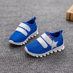 รองเท้าคัชชูเด็กสีน้ำเงินเทปหน้า Size 26-30