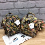 Anello x Legato Largo Botanical & Cat nylon Cap fasteners Backpack mini