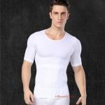 เสื้อกระชับผู้ชาย กระชับอก เก็บพุง รุ่น T-SixPack - สีขาว