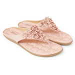 [พร้อมส่ง] ไซส์ 36 รองเท้าแตะคีบ Flower สีชมพู - KR0291