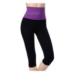 กางเกงออกกําลังกายผู้หญิง เลกกิ้งออกกำลังกาย ขา 5 ส่วน สีม่วง