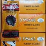 ถุงมือยางดำ 3 SWANS NO.141 (สามห่าน)