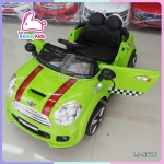 รถแบตเตอรี่เด็ก mini cooper สีเขียว 2 มอเตอร์