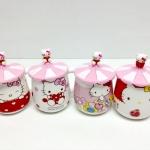 แก้วเซรามิค Hello Kitty พร้อมฝาปิดซิลิโคน