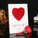 ปากกาเขียนคำอวยพร รูปหัวใจ