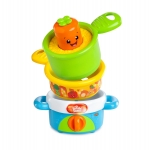หม้อแครอท ร้องเพลง-สอนภาษา Bright Starts รุ่น Giggling Gourmet Nest 'n Sing Pots