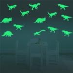 สติกเกอร์แต่งห้อง DIY เรืองแสง ไดโนเสาร์ ขนาด 21*29 ซม.