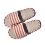 รองเท้าแตะผ้าฝ้าย(ลายสีแดง)