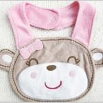ผ้ากันเปื้อน ซับน้ำลาย Carter 's เนื้อผ้าขนหนู ปักรูปหมีสาวยิ้ม