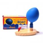 เรือไม้ลูกโป่ง ขับเคลื่อนด้วยแรงลมจากลูกโป่ง Balloon Powered Wooden Boat