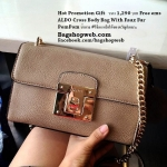 ALDO Cross Body Bag With Faux Fur PomPom มินิ มี 4 สี