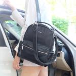 กระเป๋าเป้ไนล่อนตัดหนัง ทรงน่ารักมากๆๆๆ จากแบรนด์ KEEP รุ่น Arrow backpack