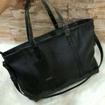 กระเป๋า Zara Trf Leather Tote Bag สีดำ ราคา 1,290 บาท Free Ems