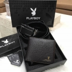 PLAYBOY LEATHER BELT & WALLET VALUE PACK Limited Edition