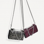 Zara Women Printed Crossbody Wallet Bag