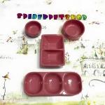 ถ้วยเซ็ท 4 ชิ้น ชมพู (สีพิเศษ)