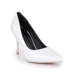 รองเท้าส้นเข็มไซส์ใหญ่ ทรงหัวแหลม ไซส์ 42 สีขาว รุ่น KR0645