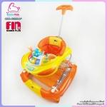 รถเข็นหัดเดินปรับโยกได้ BABY สีส้ม Farlin