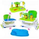 เก้าอี้ทานข้าวเด็ก Booster แบบมีของเล่น ขาตั้งปรับระดับได้ พกพาสะดวก RoyalCare (รุ่นมีของเล่น)