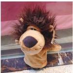ตุ๊กตาหุ่นมือสิงโต หัวใหญ่ ขนนุ่มนิ่ม สวมขยับปากได้