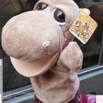 ตุ๊กตาหุ่นมือฮิปโป หัวใหญ่ ขนนุ่มนิ่ม สวมขยับปากได้