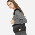 Charles & Keith Furry Chain-Strap Shoulder Bag
