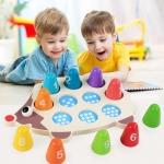 ของเล่นไม้ เม่นน้อยสอนคณิตศาสตร์ รู้จักตัวเลขและการนับจำนวน 1-10