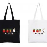 กระเป๋าผ้าสะพายข้างลายมูมิน แอปเปิ้ล