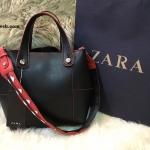 กระเป๋า ZARA TOTE WITH CONTRASTING HANDLE ราคา 1,290 บาท Free Ems