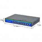 POE Switch 8 POE/100 + 2 Uplink /1000 มาตรฐาน 802.3af/at