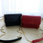 Charles & Keith Front Flap Crossbody Bag free ถุงผ้า *สินค้า outlet