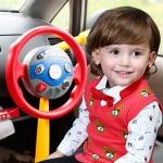 พวงมาลัยหัดขับรถของเล่น แบบจุ๊บติดกระจกรถ ELECTRONIC BACKSEAT DRIVER