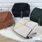 CHARLES & KEITH CONTRAST TEXTURE SHOULDER BAG *มีถุงผ้า*