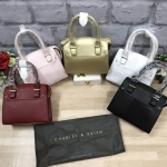 Charles & Keith Structured Handbag free ถุงผ้า มี 5 สีให้เลือกค่ะ *สินค้า outlet