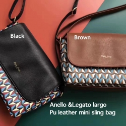 Anello & Legato largo Pu leather mini sling bag *สินค้า outlet