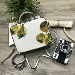 CHARLES & KEITH Box VAN GOGH SunFlower Painting Inspried Collection 2018