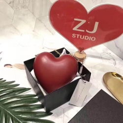 CHARLES & KEITH Red Heart Clutch free ems and Box