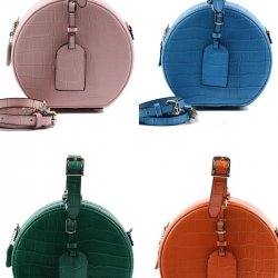Mine Genuine Leather Box Design ลาย Croco พร้อมสายสะพายหนังแท้ในเซ็ต
