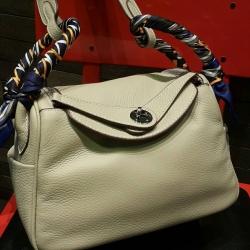 Hot Promotion Lindy 26cm Swift Silver Studd material Coated Leather หนังลูกวัว100%