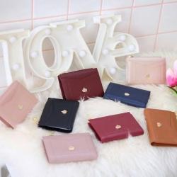 KEEP Slim Genuine Leather Short Wallet มี 8 สี .ให้เลือกค่ะ