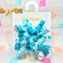 HP004••กิ๊บติดผมเด็ก•• / พู่หัวใจโทนสีฟ้า (Gymboree)