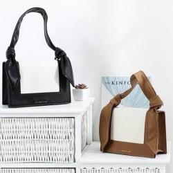 CHARLES & KEITH Knotted Strap Handbag free ถุงผ้า มี 2 สีให้เลือกค่ะ