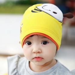 HT443••หมวกเด็ก•• / หมวกบีนนี่-ผีเสื้อ (สีเหลือง)