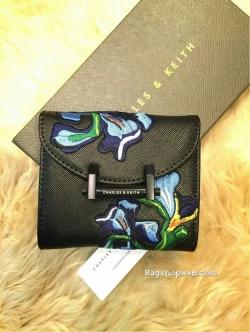 CHARLES & KEITH Van Gogh Series Iris Embroidery Wallets