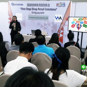 สอนเทคนิคขายของออนไลน์เพื่อผู้ประกอบการSME งาน ASEAN Retail 2017 ณ ไบเทค(บางนา) สร้างเวปไซต์อย่างไรให้เพิ่มยอดขายได้ โดยอาจารย์ใบตอง